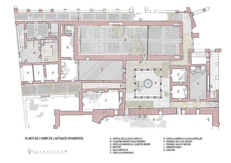 Restauració del Sector Central o Cenobític de la Cartoixa d'Escala Dei