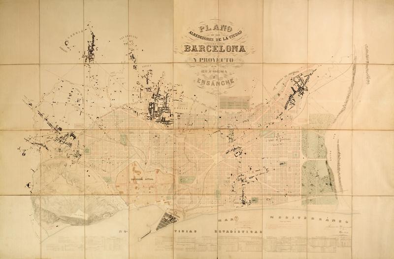 L'Eixample of Barcelona. Pla Cerdà
