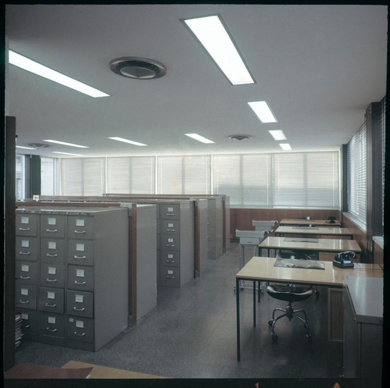 Rubberstamping and Administration Floor of the Architects' Association of Catalonia (COAC)