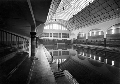 Swimming Pool on the Breakwater of Barcelona Swimming Club