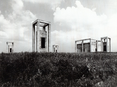 Ventilation and Entrance Towers to an Underground Water Tank