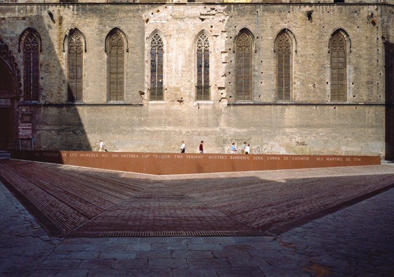 Square in the Fossar de les Moreres