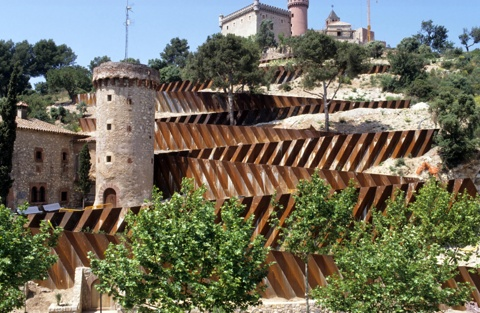 Ramps to Castelldefels Castle