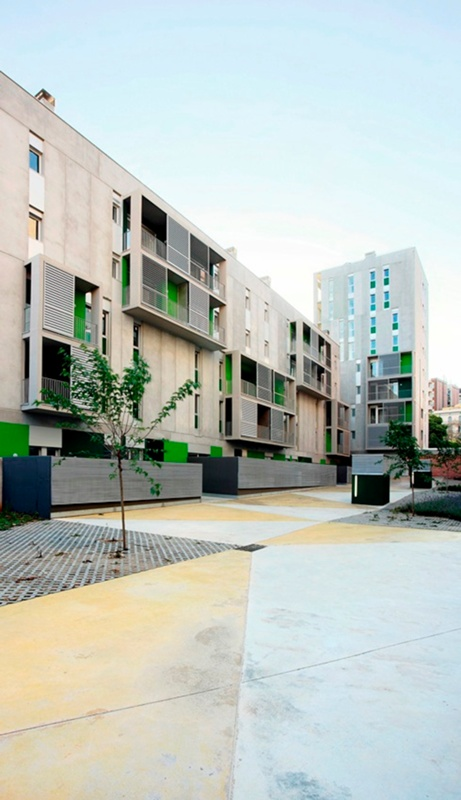 Les Corts Apartment Buildings