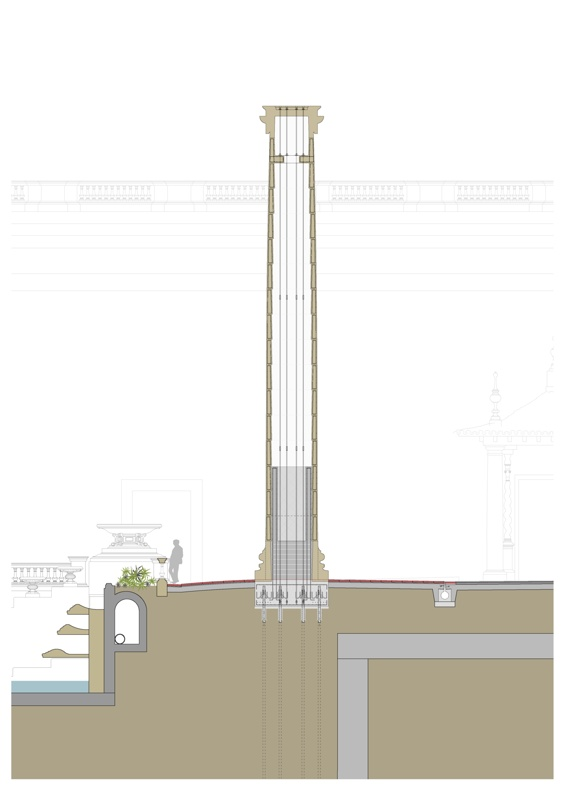 Reconstrucció del Monument de Les Quatre Columnes