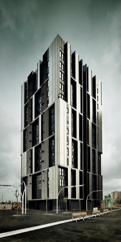 Torre de Viviendas Sociales en la Plaza Europa