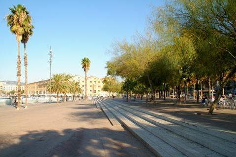 Paseo del Moll de la Barceloneta