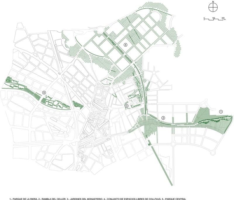 Parc Central, Rambla del Celler i Sistema de Parcs de Sant Cugat