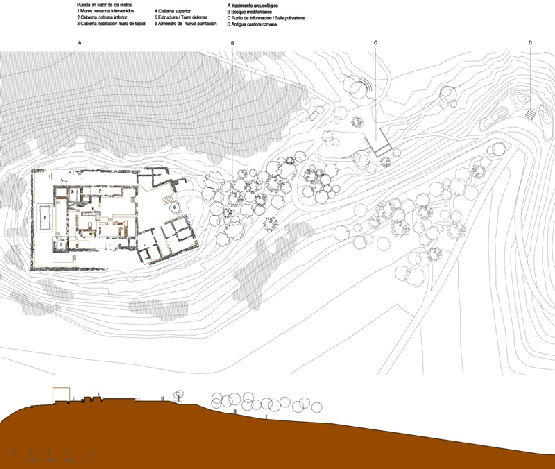 Reorganization of the Roman Archaeological Site of Can Tacó