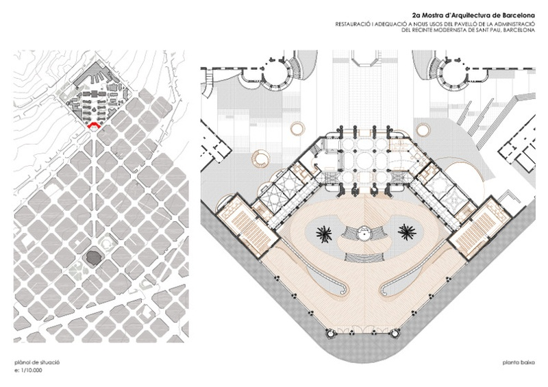 Rehabilitation of the Administration Pavilion of the Hospital de la Santa Creu i Sant Pau
