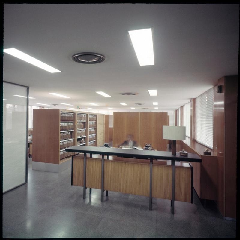 Planta de Secretaria del Col·legi d'Arquitectes de Catalunya (COAC)