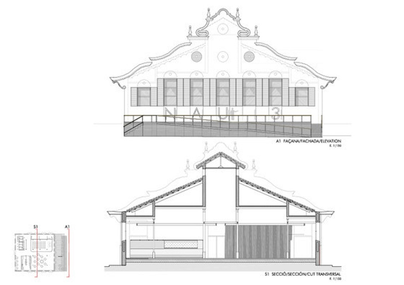 Rehabilitación de la Nave 3 del Antiguo Matadero Municipal de Badalona