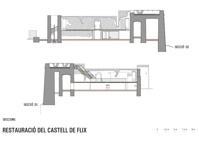 Restauración del Castell Nou de Flix
